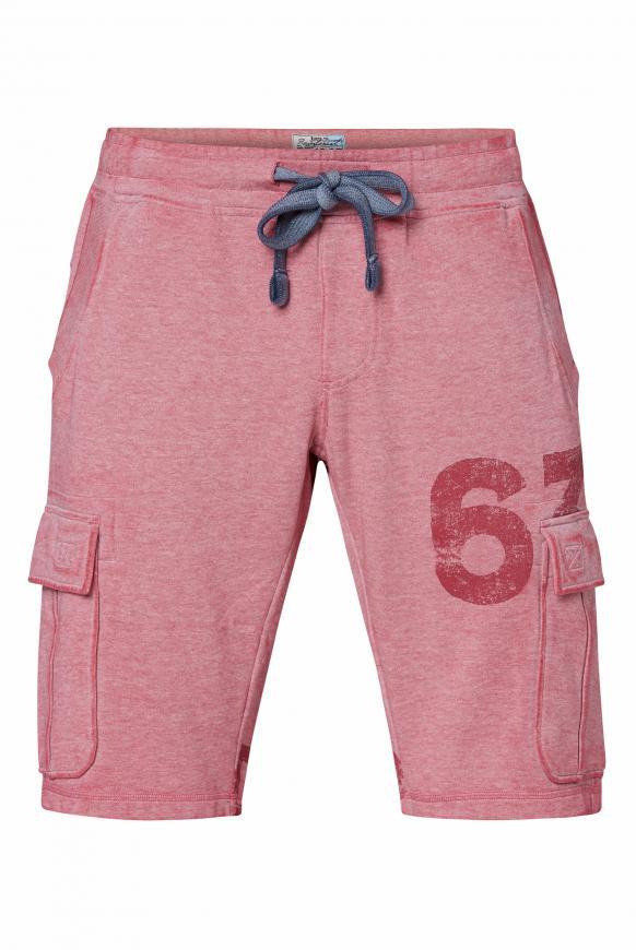 Sweat Cargo Shorts mit Ausbrennern berbere red