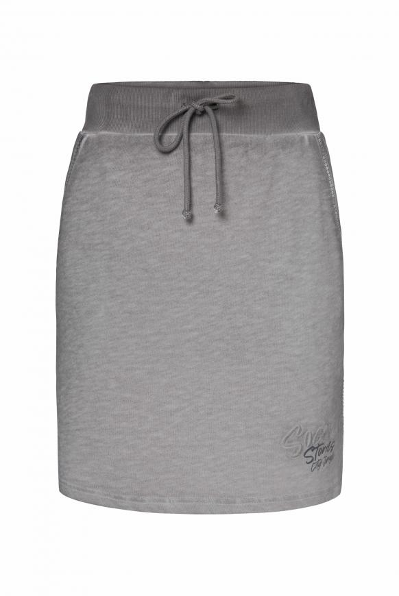 Sweatrock mit Artwork und Pailletten light grey
