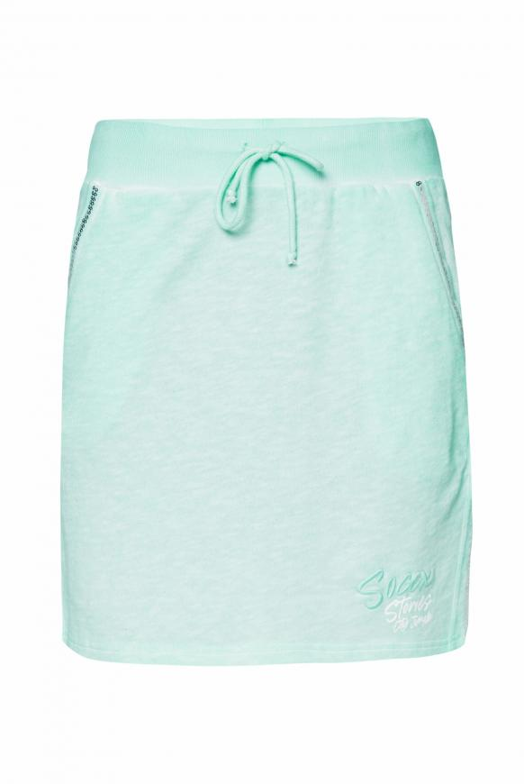 Sweatrock mit Artwork und Pailletten bright mint