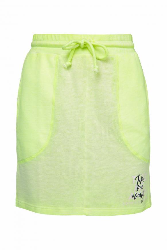Sweatrock mit Paillettenstreifen und Print summer lime