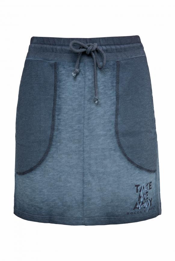 Sweatrock mit Paillettenstreifen und Print blue navy