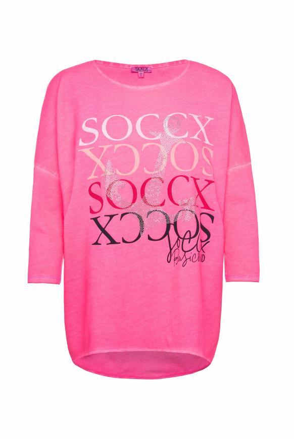 Sweatshirt mit 3/4-Arm und Artwork paradise pink