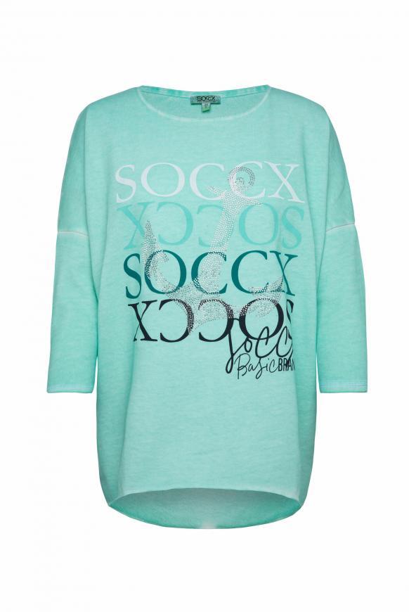 Sweatshirt mit 3/4-Arm und Artwork
