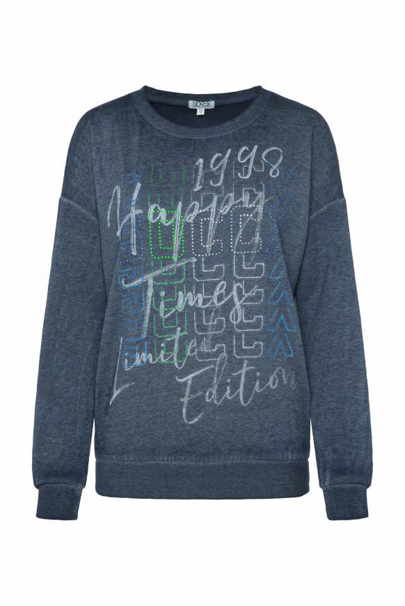 Sweatshirt mit Ausbrenner-Effekten nautic navy