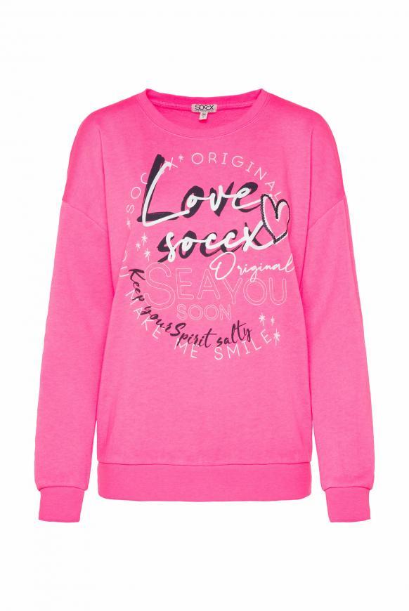 Sweatshirt mit Ausbrenner-Effekten knockout pink