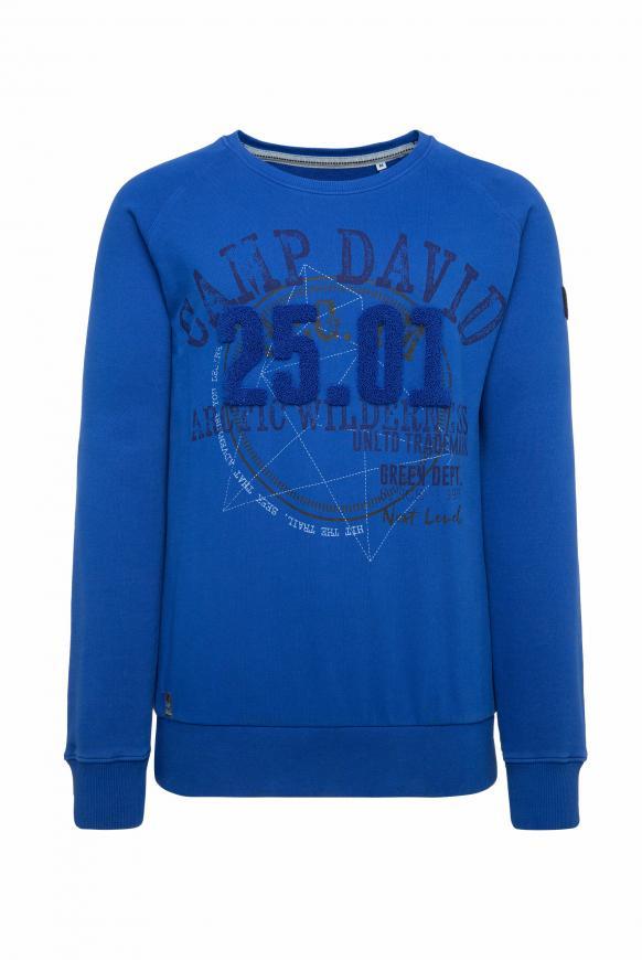 Sweatshirt mit Frottee-Artwork cobalt