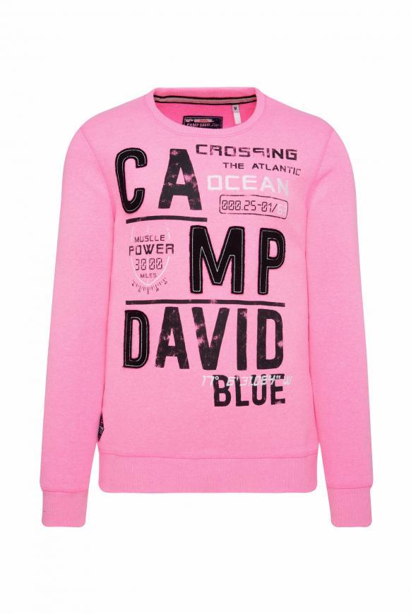 Sweatshirt mit Logo-Design neon pink