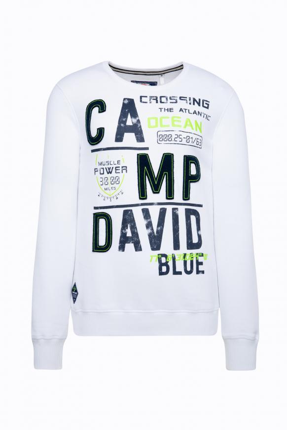 Sweatshirt mit Logo-Design opticwhite