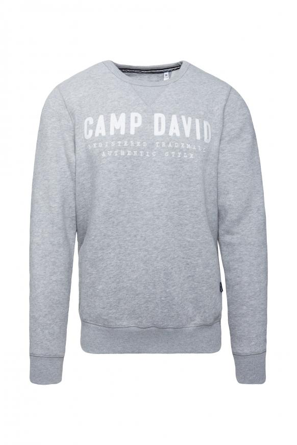 Sweatshirt mit Logo-Stickerei grey melange