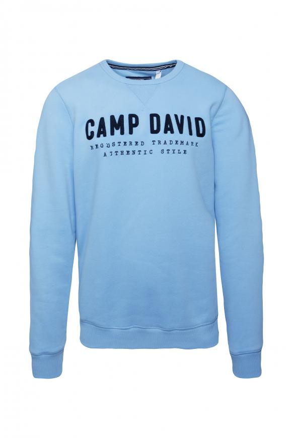 Sweatshirt mit Logo-Stickerei light blue