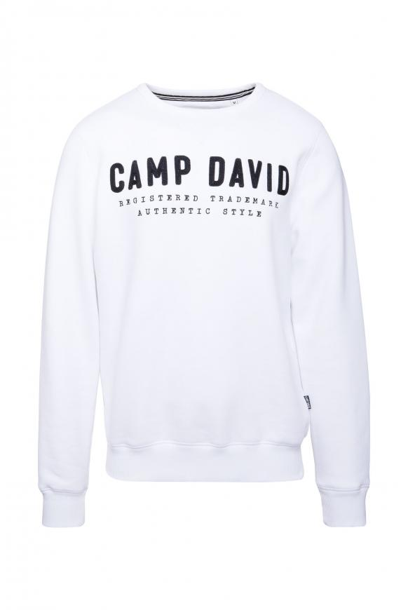 Sweatshirt mit Logo-Stickerei opticwhite