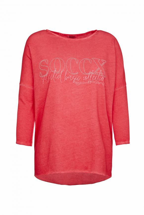 Sweatshirt mit Logo und 3/4-Ärmeln red summer