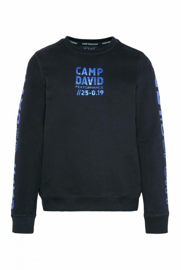 Sweatshirt mit Metallic Rubber Prints black