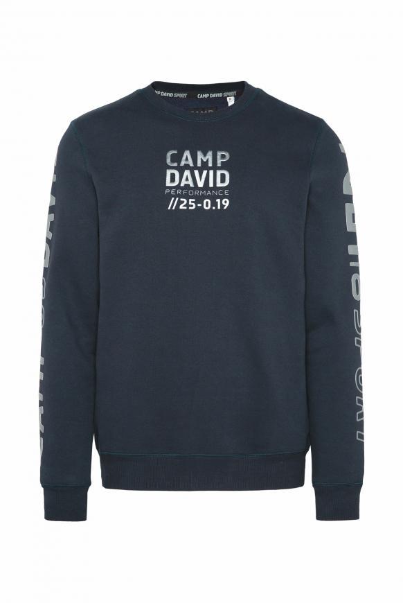 Sweatshirt mit Metallic Rubber Prints blue navy