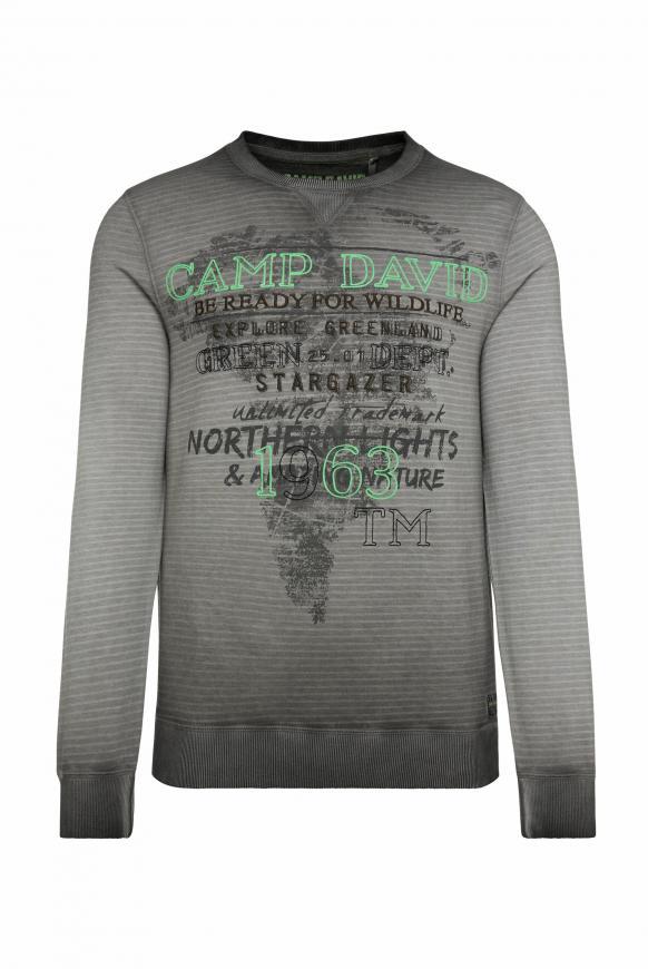 Sweatshirt mit Streifendruck und Artworks shadow