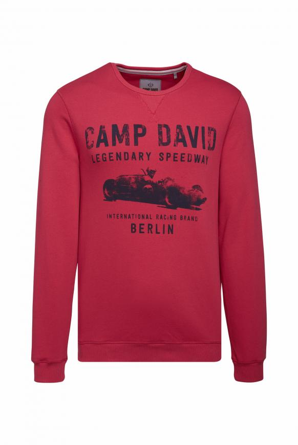 Sweatshirt mit Used Print