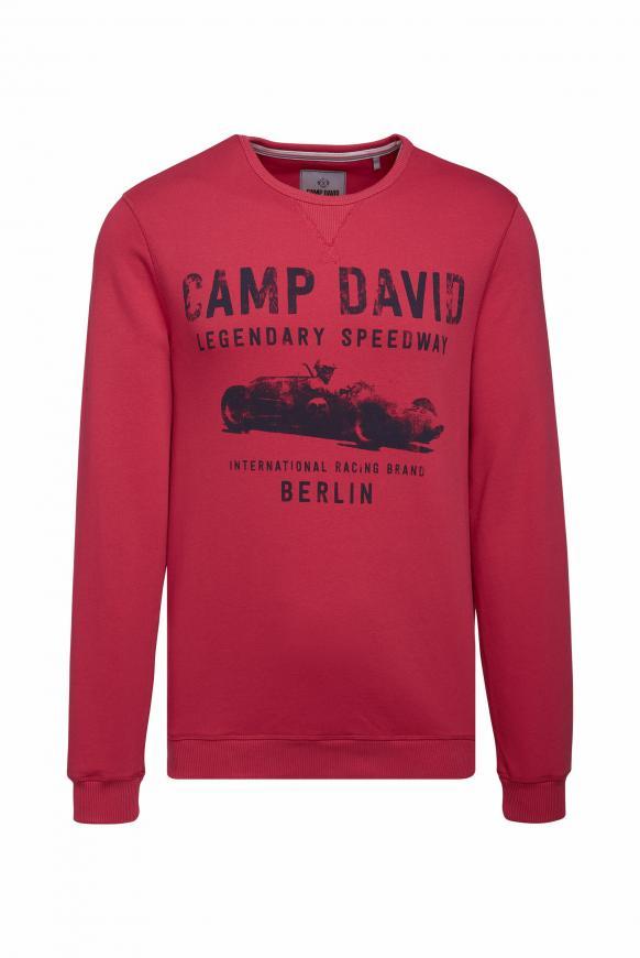 Sweatshirt mit Used Print cardinal