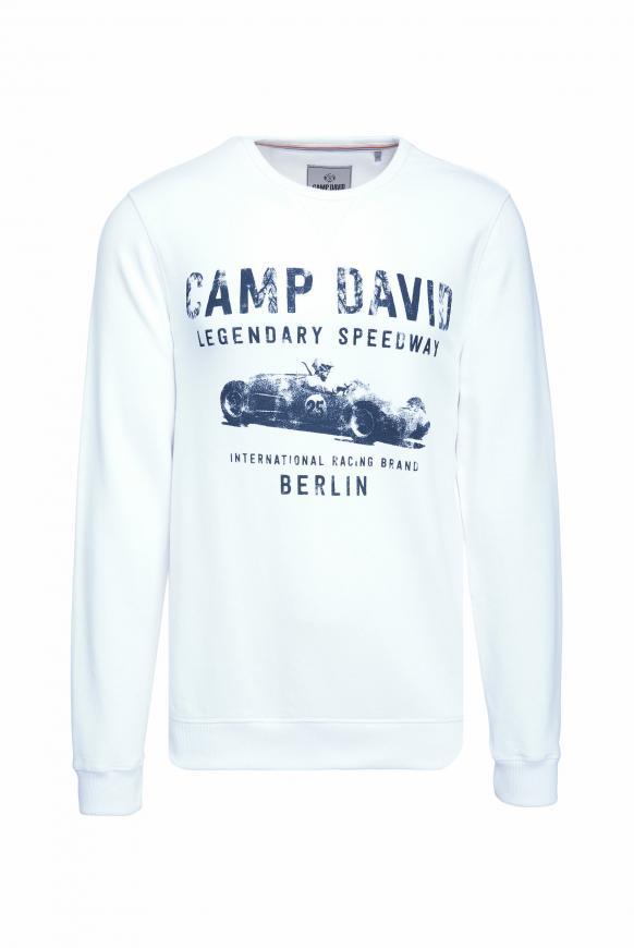 Sweatshirt mit Used Print opticwhite