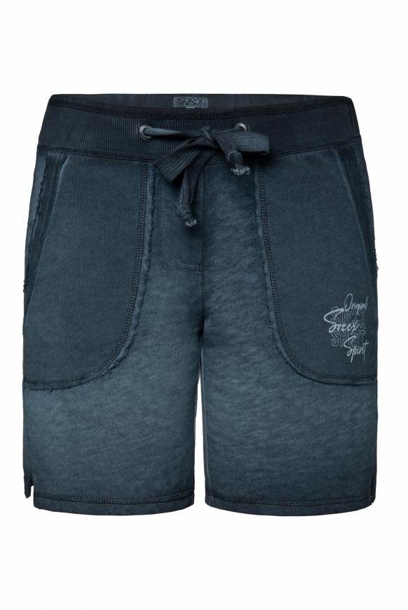 Sweatshorts im Vintage Look mit Print blue navy