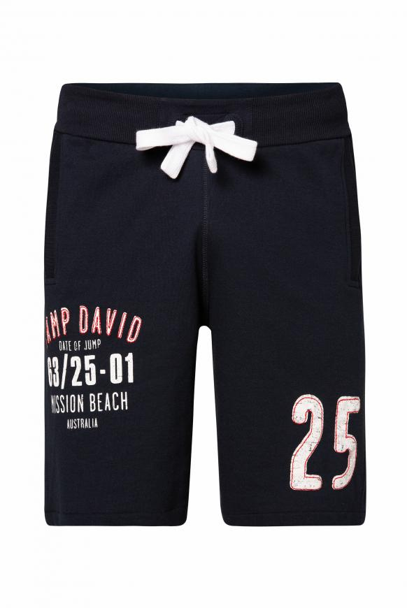 Sweatshorts mit Artworks blue navy
