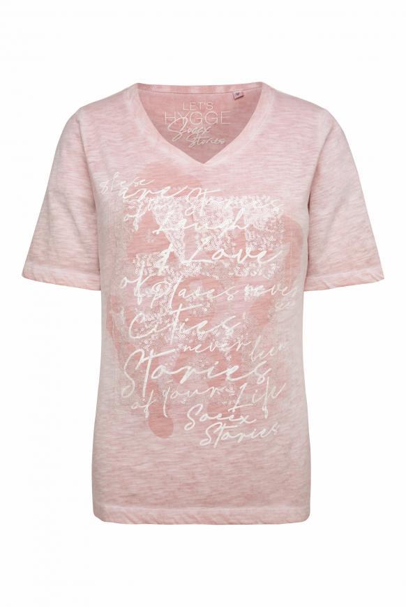 T-Shirt mit All Over Print und Artwork winter powder