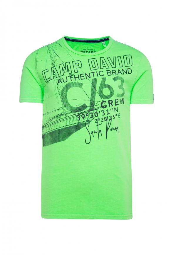 T-Shirt mit Artwork neon green