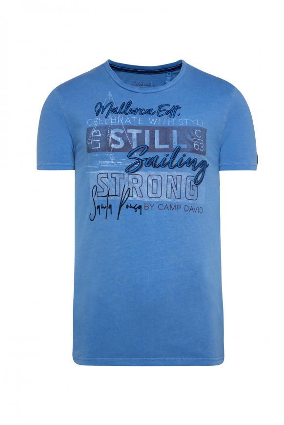 T-Shirt mit Artwork sky blue