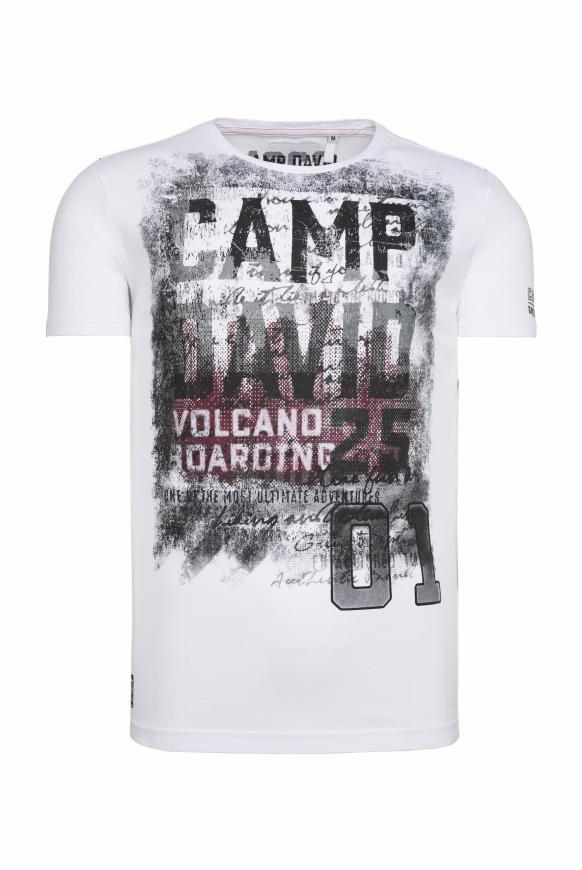 T-Shirt mit auffälligen Logo Prints offwhite