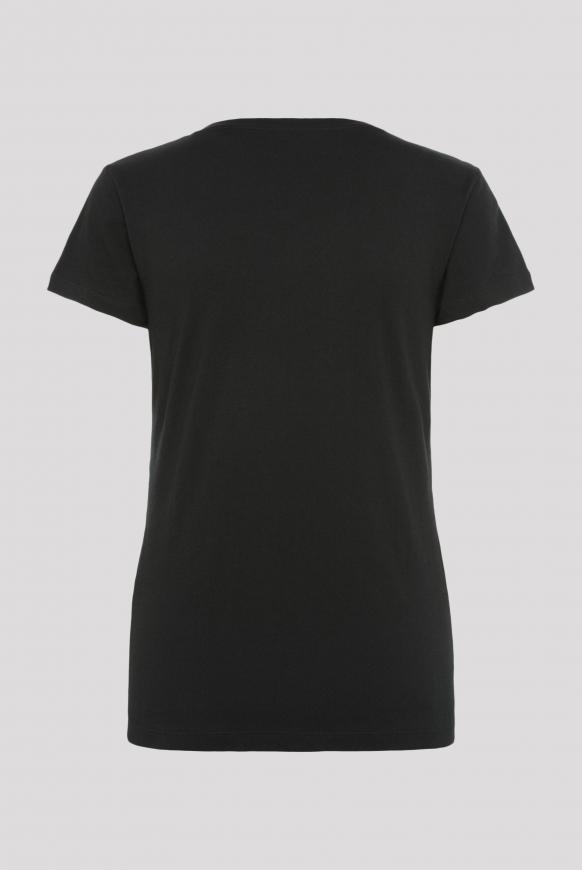T-Shirt mit Caviar-Glitter-Print black