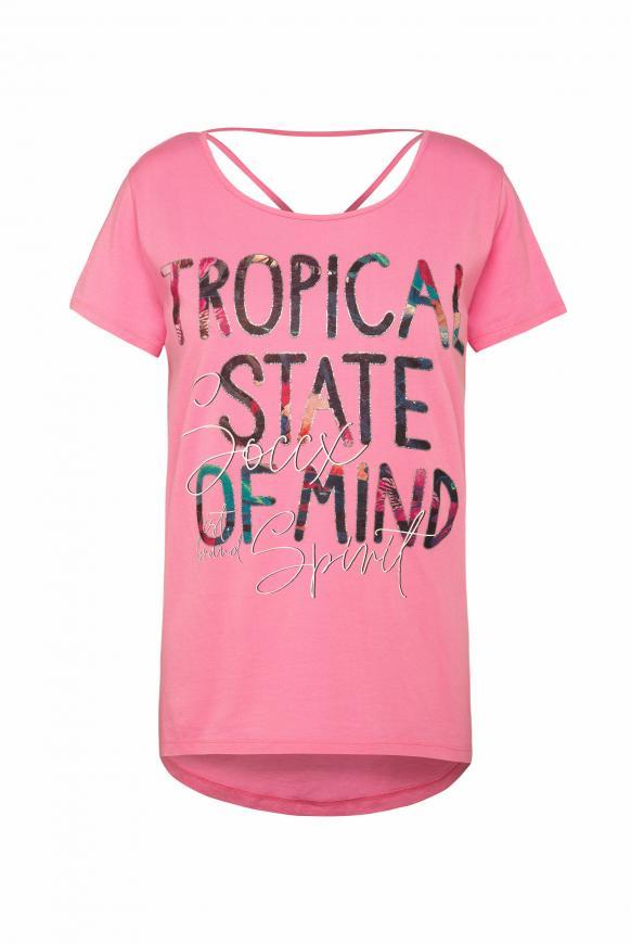 T-Shirt mit dekorativem Rücken-Design lush rose