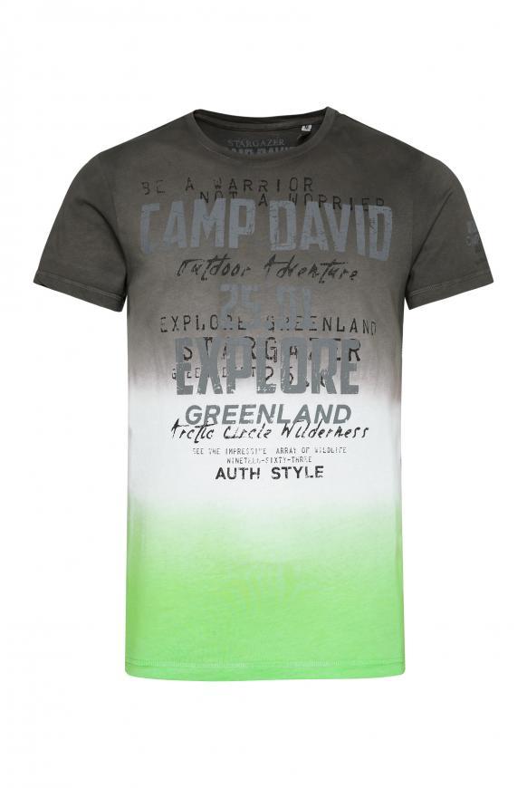 T-Shirt mit Farbverläufen und Logo Prints dark shadow