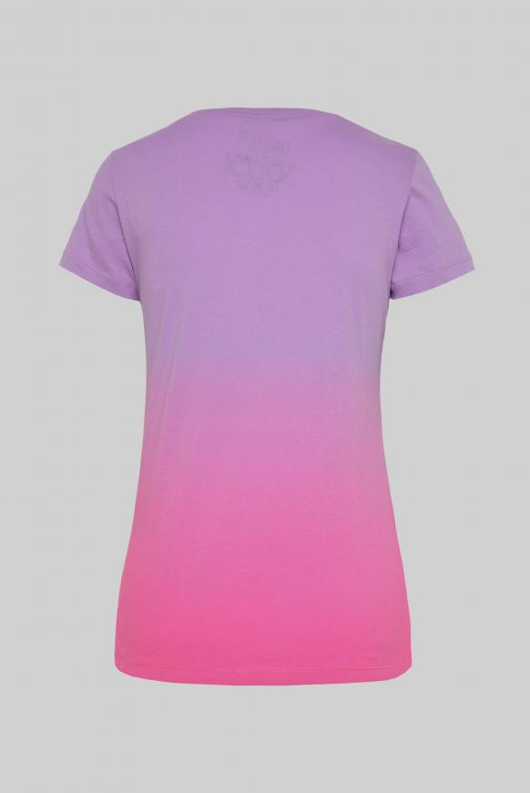 T-Shirt mit Farbverlauf und Print-Artwork lavender sky
