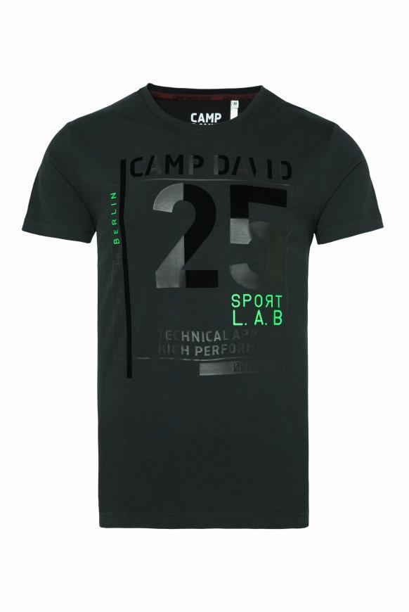 T-Shirt mit Flock-Print black