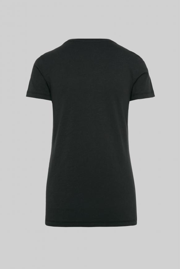 T-Shirt mit Folien-Print black