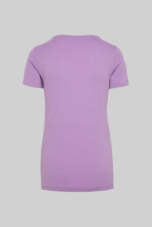 T-Shirt mit Folien-Print lavender sky