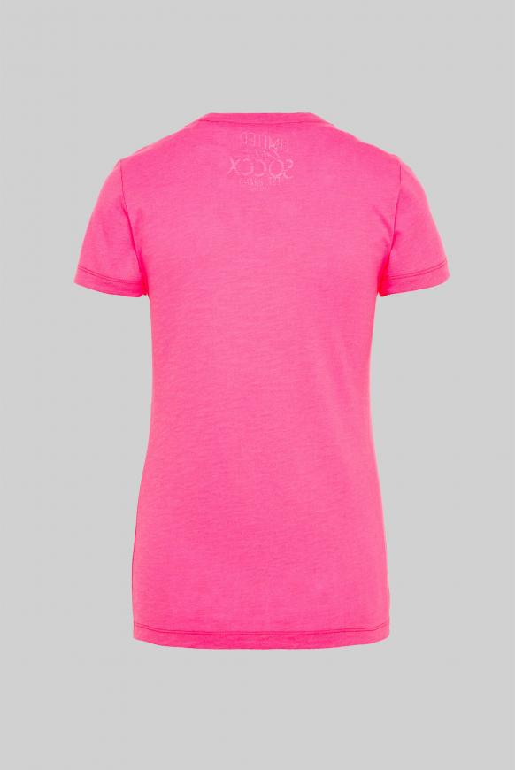 T-Shirt mit Glitter Print paradise pink