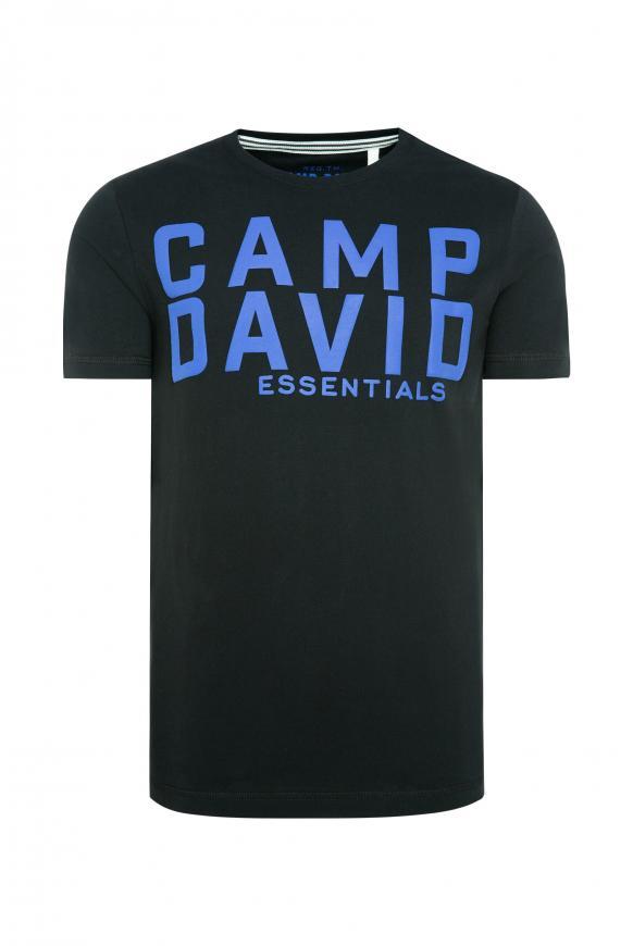 T-Shirt mit großem Logo Puff Print black