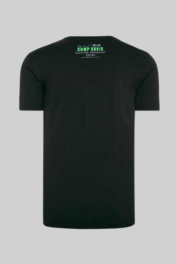 T-Shirt mit Label-Applikationen black
