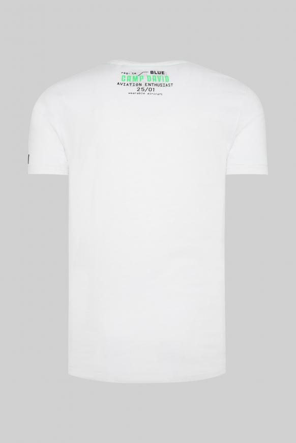 T-Shirt mit Label-Applikationen opticwhite