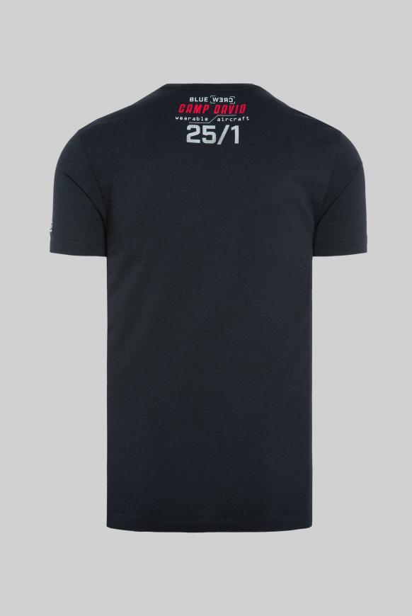 T-Shirt mit Logo Rubber Prints blue navy
