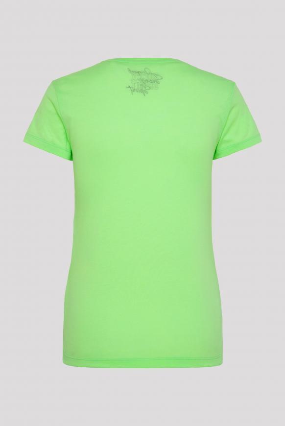 T-Shirt mit Photo-Glitter-Print lemon drop