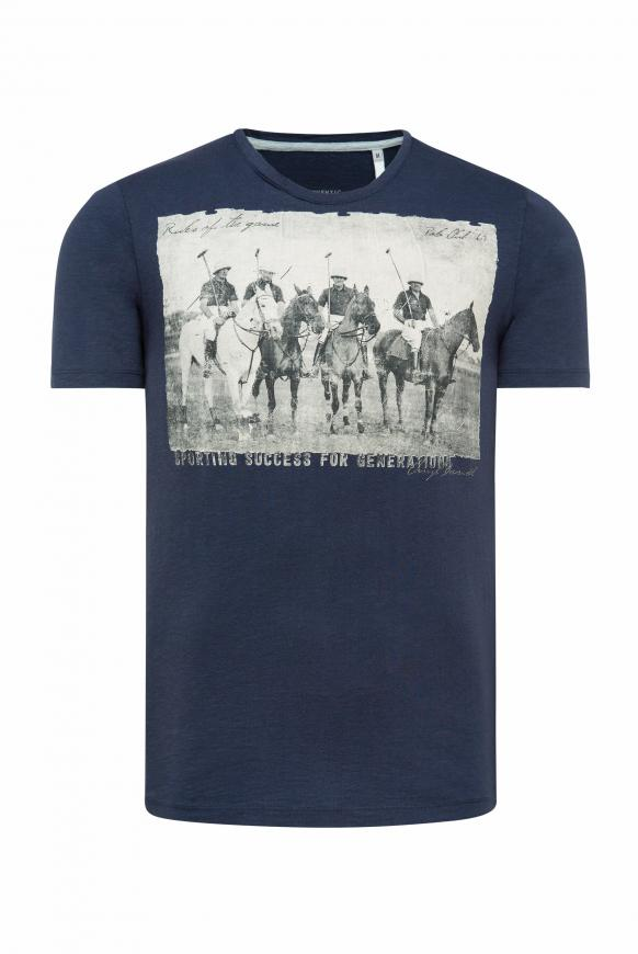 T-Shirt mit Photoprint absolute blue