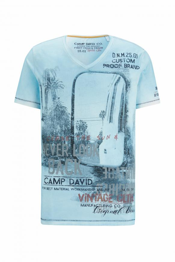 T-Shirt mit Photoprint im Vintage Look morning sky