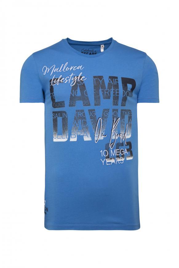 T-Shirt mit Photoprint Logo sky blue