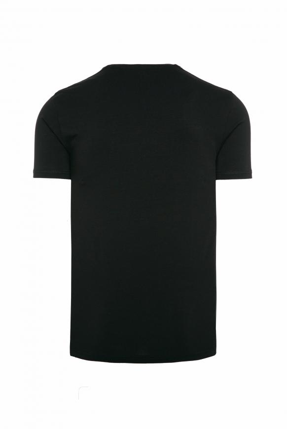T-Shirt mit Photoprint Logo black