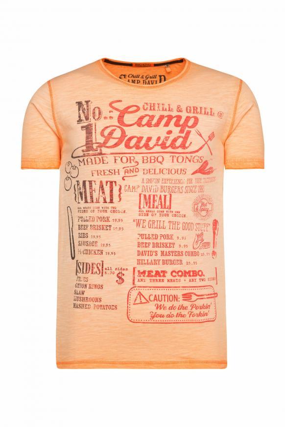 T-Shirt mit Print mit Farbverlauf spicy orange