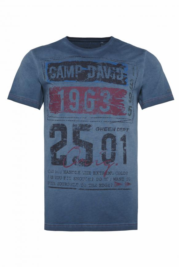 T-Shirt mit Prints im Used Look deep sea