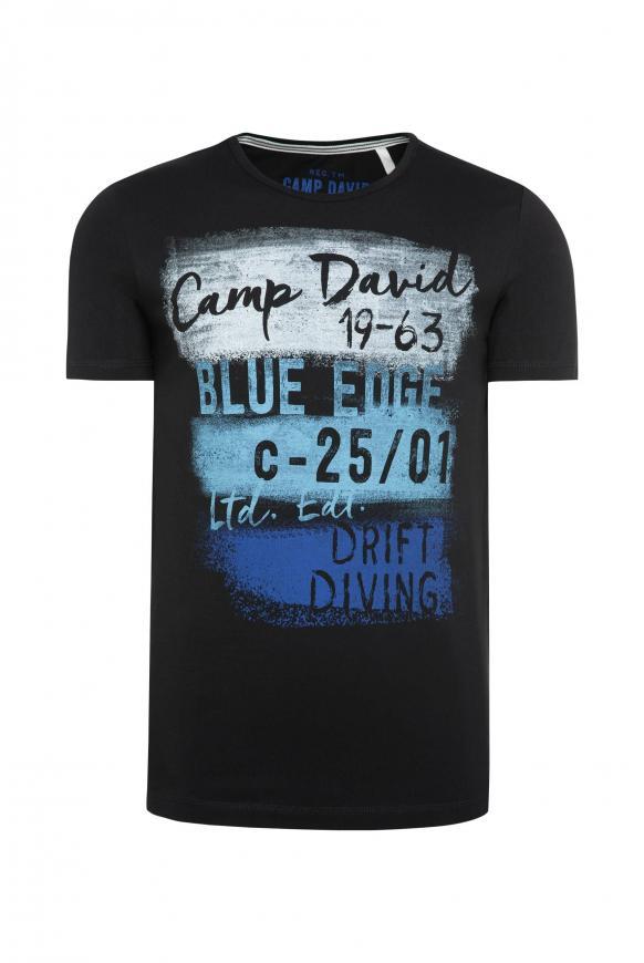 T-Shirt mit Rundhalsausschnitt und Artwork black