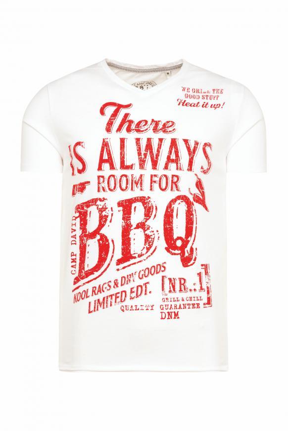 T-Shirt mit Used Print und Destroy-Effekten opticwhite