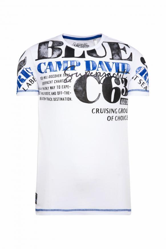 T-Shirt mit Watercolour Print opticwhite